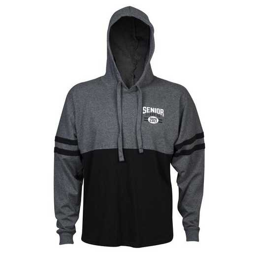 Men's Class of 2021 Varsity Hoodie, Grey/Black