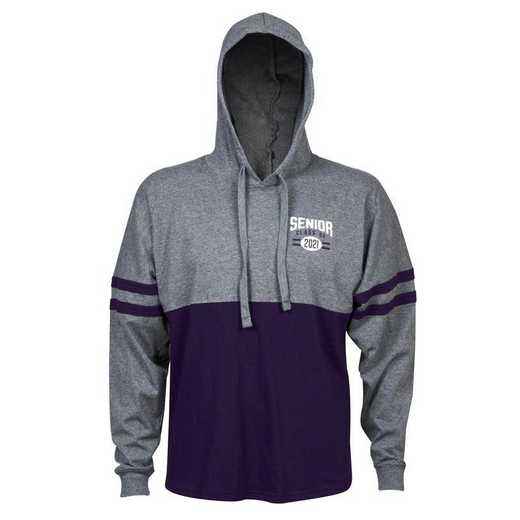 Women's Class of 2021 Varsity Hoodie, Grey/Purple
