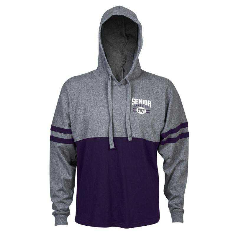 Women's Class of 2021 Varsity Hoodie, Grey/Purple