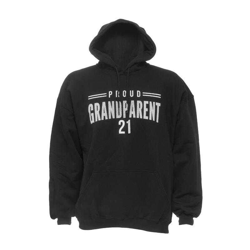 Proud Grandparent 2021 Gildan Hoodie, Black