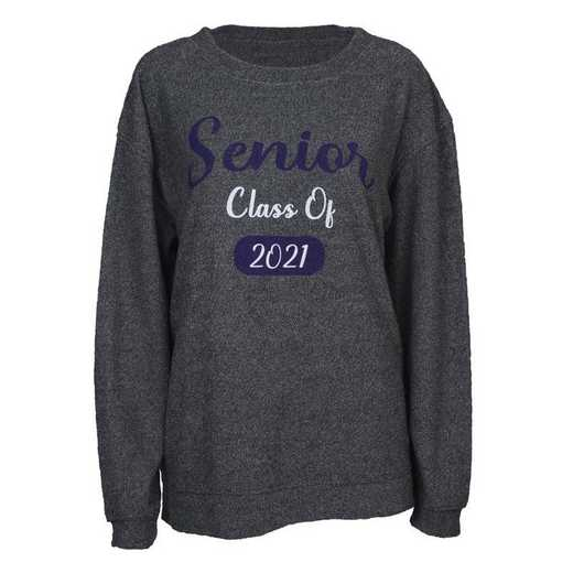 Women's Senior Class of 2021 Cozy Crew Pullover, Grey