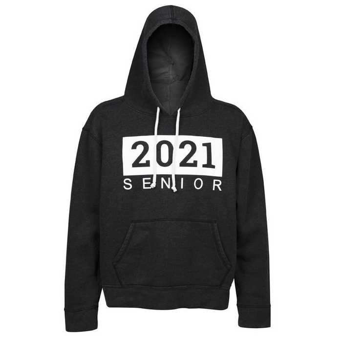 Men's Seniors 2021 Eco-Friendly Fleece Hoodie, Graphite