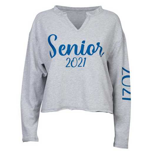 Women's Seniors 2021 Cropped Pullover, Gray