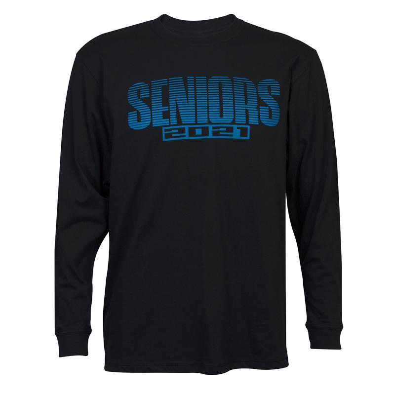 Men's Seniors 2021 Long Sleeve T-Shirt, Black