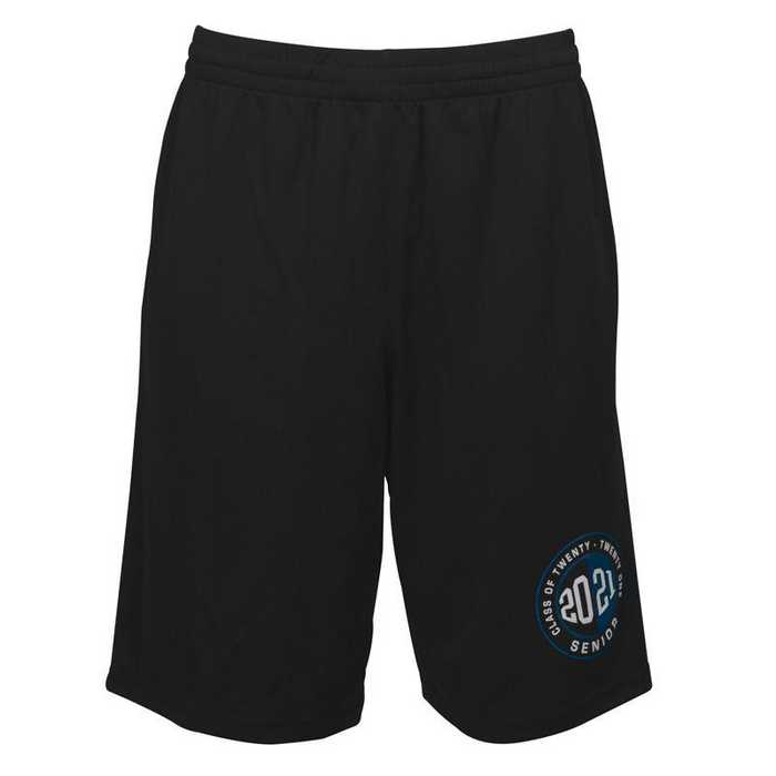 Men's 2021 Senior Logo Mesh Athletic Shorts, Black