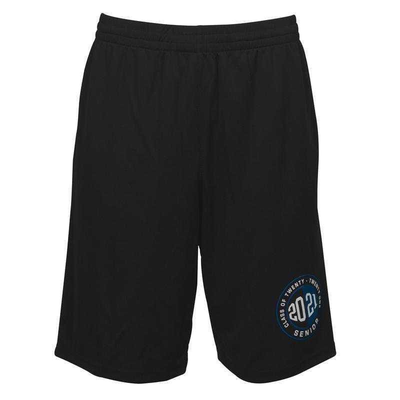 Men's 2021 Senior Logo Mesh Athletic Shorts, Black