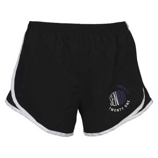 Women's Class of 2021 Senior Logo Mesh Athletic Shorts, Black