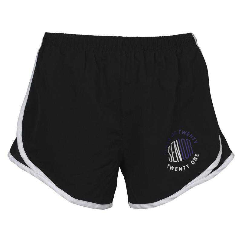 Women's Class of 2021 Senior Logo Mesh Athletic Shorts, Black