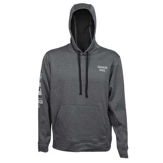 2021 Senior Performance Sport Wick Pocket Hoodie, Heather Gray