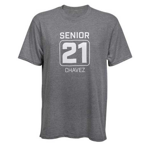 Custom Senior '21 Tee, Gray