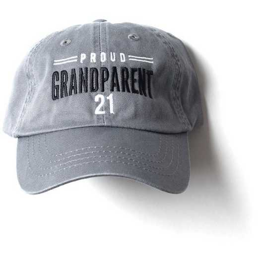 K022484: Proud Grandparent Class of 2021 Baseball Hat, Grey