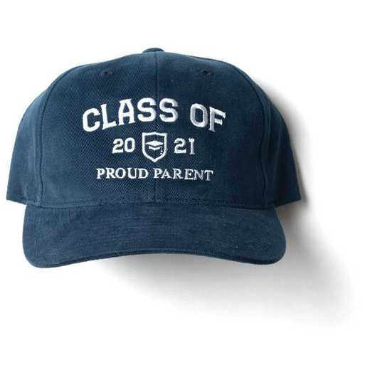 K022483: Proud Parent Class of 2021 Baseball Hat, Navy