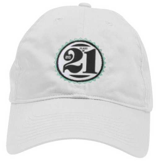 K022505: Lightweight Class of '21 Baseball Hat, Adjustable, White