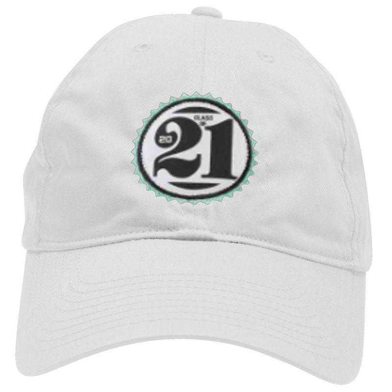 K022505: Lightweight Class of '21 Baseball Hat, Adjustable, White