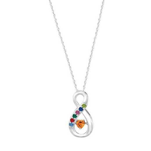 Glimmering Gemstones Infinite Love Pendant