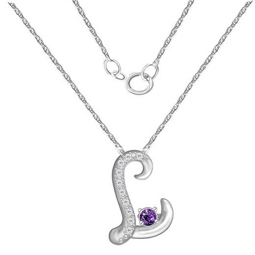 Glimmering Gemstones Initial Pendant with Birthstone: Inscribe