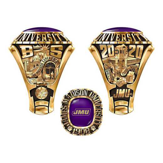 James Madison University Class Of 2020 Men's 876L Traditional with Square Stone