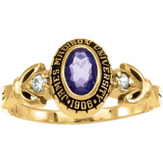 James Madison University Class Of 2021 Women's Twilight with Diamonds and Birthstones