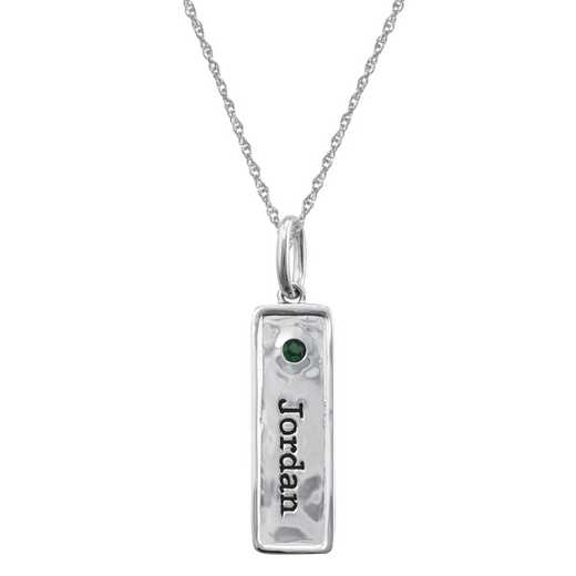 Personalized Rectangular Charm Pendant: Jordan