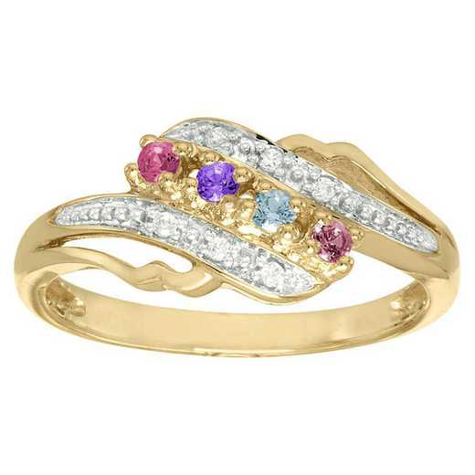 Women's Four Stone Family Ring: Jubilee Quick Ship