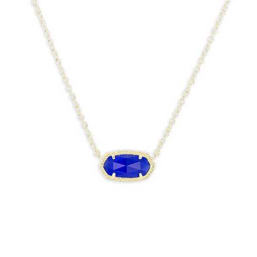 KSELI-NEC:Womens Fashion Necklace GOLD/COBALT BLUE