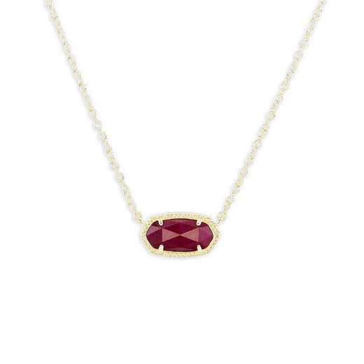KSELI-NEC:Womens Fashion Necklace GOLD/MAROON JADE