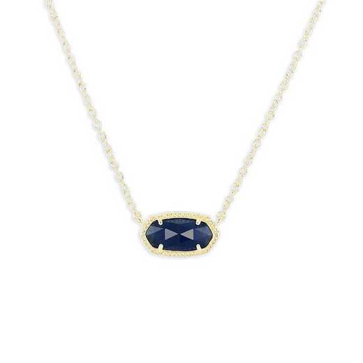 KSELI-NEC:Womens Fashion Necklace GOLD/NAVY CATS EYE