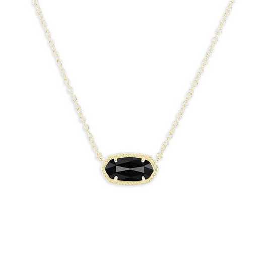KSELI-NEC:Womens Fashion Necklace GOLD/BLACK