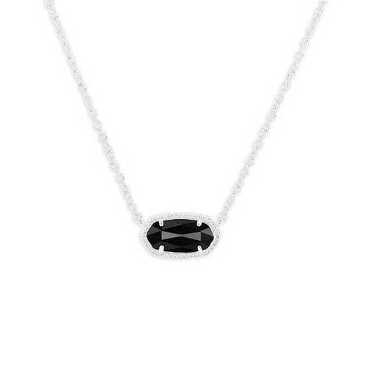 KSELI-NEC:Womens Fashion Necklace RHODIUM/BLACK
