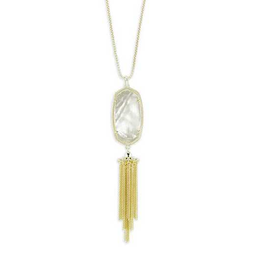 KSRAY-NEC:Womens Fashion Necklace GOLD/IVORY MOP