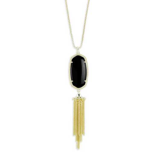 KSRAY-NEC:Womens Fashion Necklace GOLD/BLACK