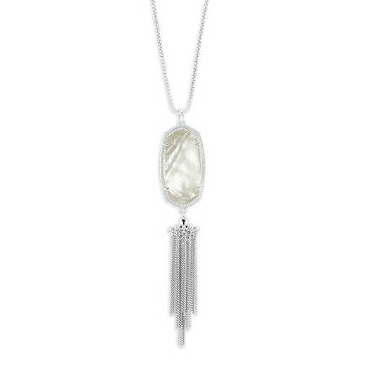 KSRAY-NEC:Womens Fashion Necklace RHODIUM/IVORY MOP