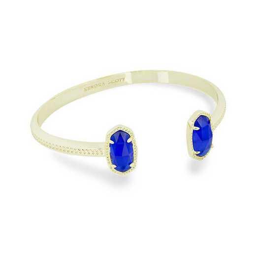 KSELT-BRA:Womens Fashion Bracelet GOLD/COBALT BLUE