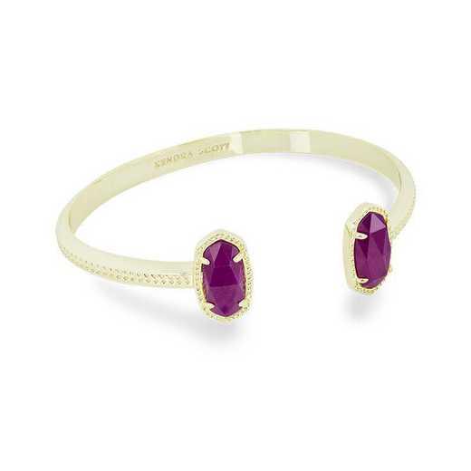 KSELT-BRA:Womens Fashion Bracelet GOLD/PURPLE JADE