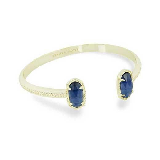 KSELT-BRA:Womens Fashion Bracelet GOLD/NAVY CATS EYE