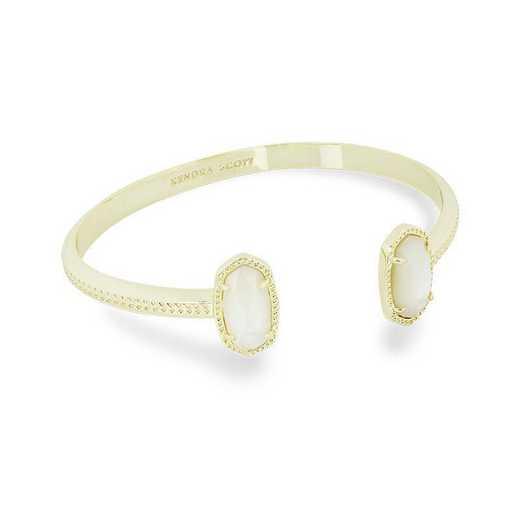 KSELT-BRA:Womens Fashion Bracelet GOLD/IVORY MOP