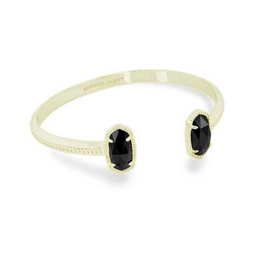 KSELT-BRA:Womens Fashion Bracelet GOLD/BLACK