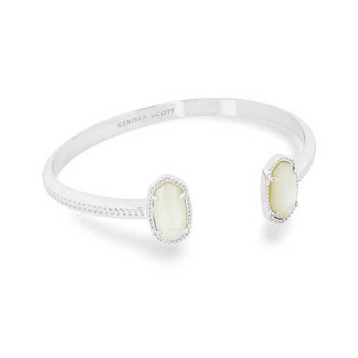 KSELT-BRA:Womens Fashion Bracelet RHODIUM/IVORY MOP
