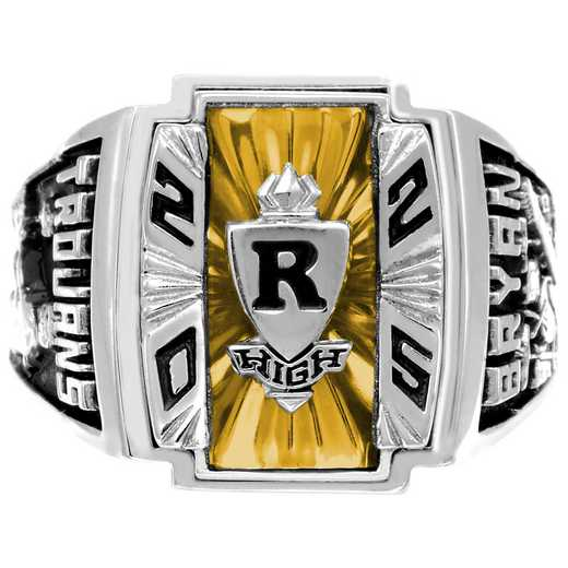 Men's Art Deco High School Class Ring - Legacy