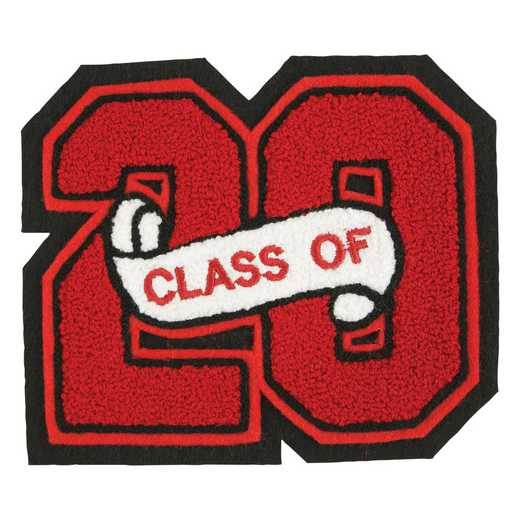 LJ1001CS: 2 Digit Block - Chenille Sash - Class Of