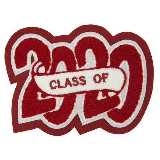 LJ1003CSCB: 4 Digit Year Date - Crazy Block - Chenille Sash - Class Of