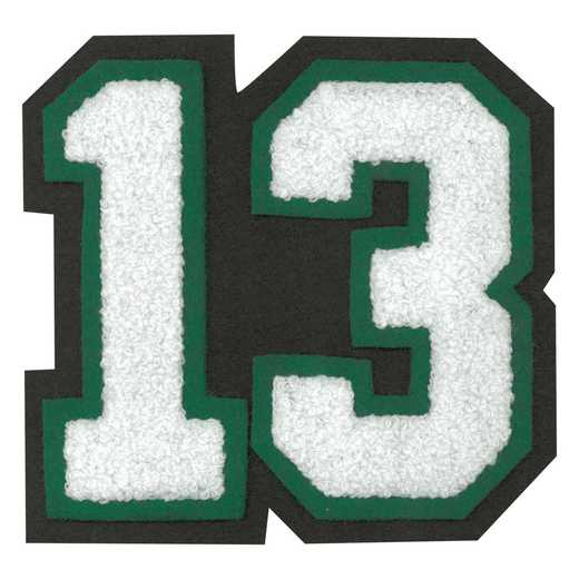 LJ1012: 2 Digit Jersey Number - Chenille