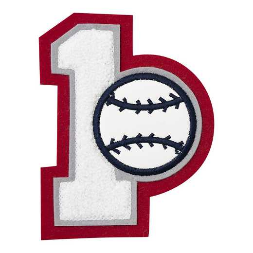LJ7009BB: 1 Digit Jersey Number - Chenille with Symbol - Sport Touch - Baseball