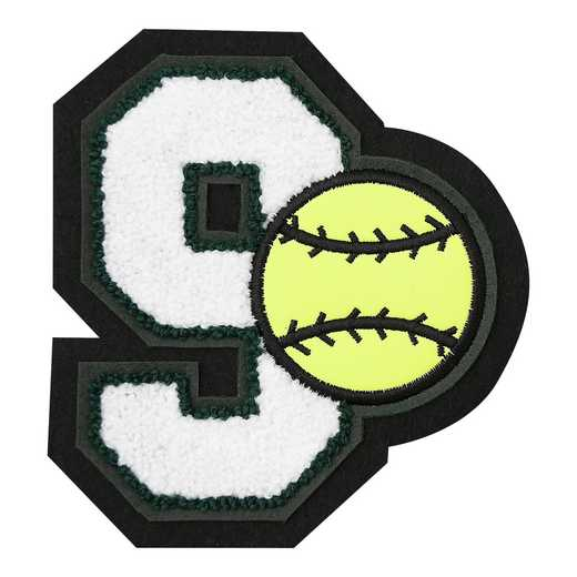 LJ7009SB: 1 Digit Jersey Number - Chenille with Symbol - Sport Touch - Softball