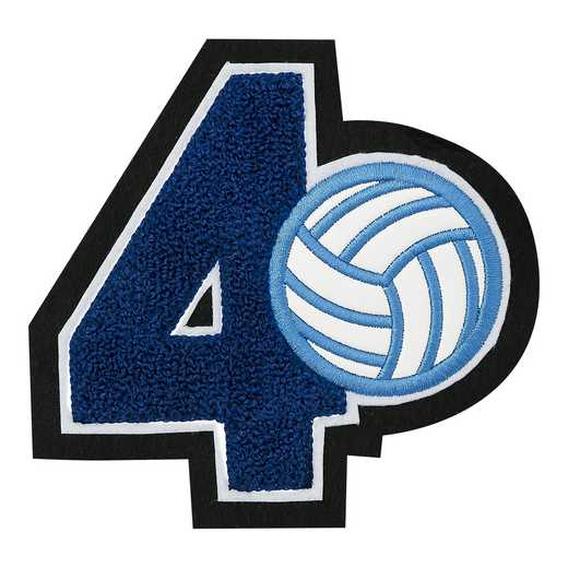 LJ7009VB: 1 Digit Jersey Number - Chenille with Symbol - Sport Touch - Volleyball