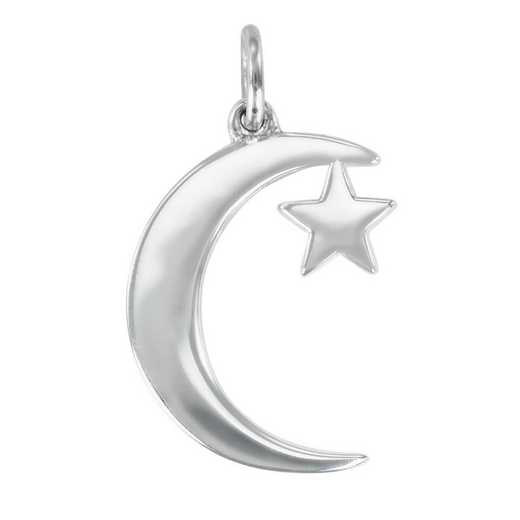 Liz James Crescent Moon and Star Charm