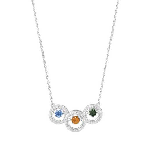 Glimmering Gemstones Love Reflected Necklace