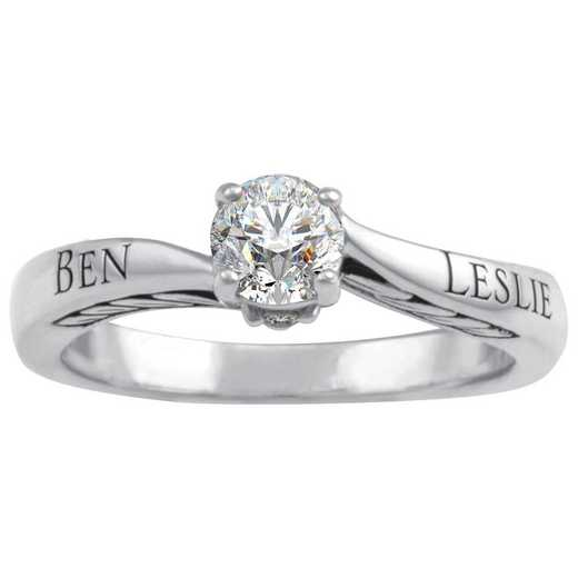 Promise Ring with CZ Center Stone: Loyal