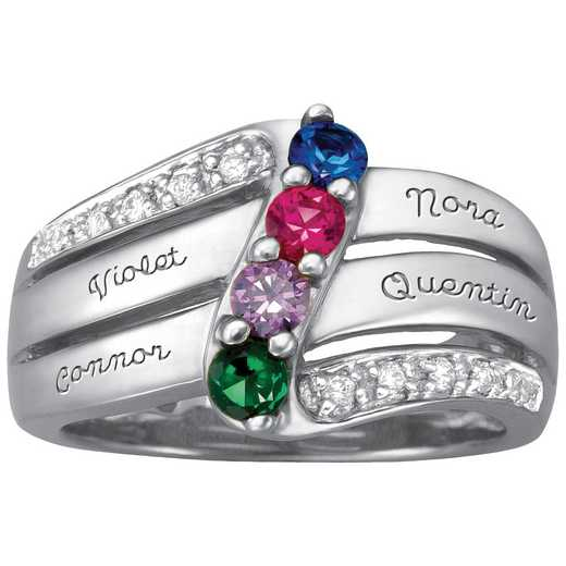 Mother's Four-Stone Ring: Luxe