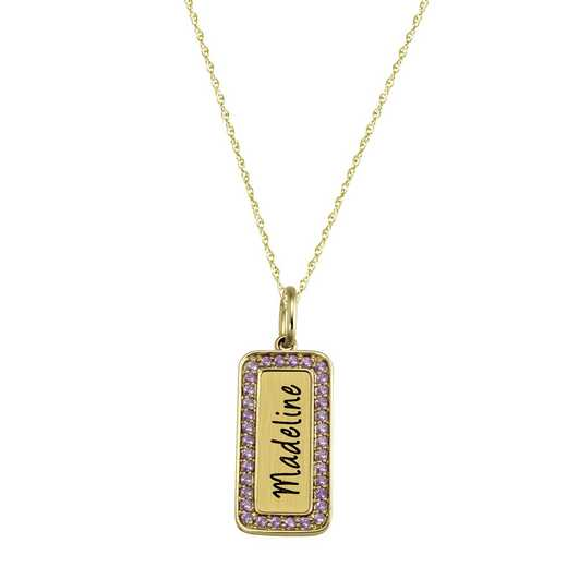 Marquee Personalized Name Pendant